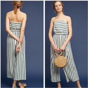 Maeve By Anthropologie Striped Wide Leg Jumpsuit